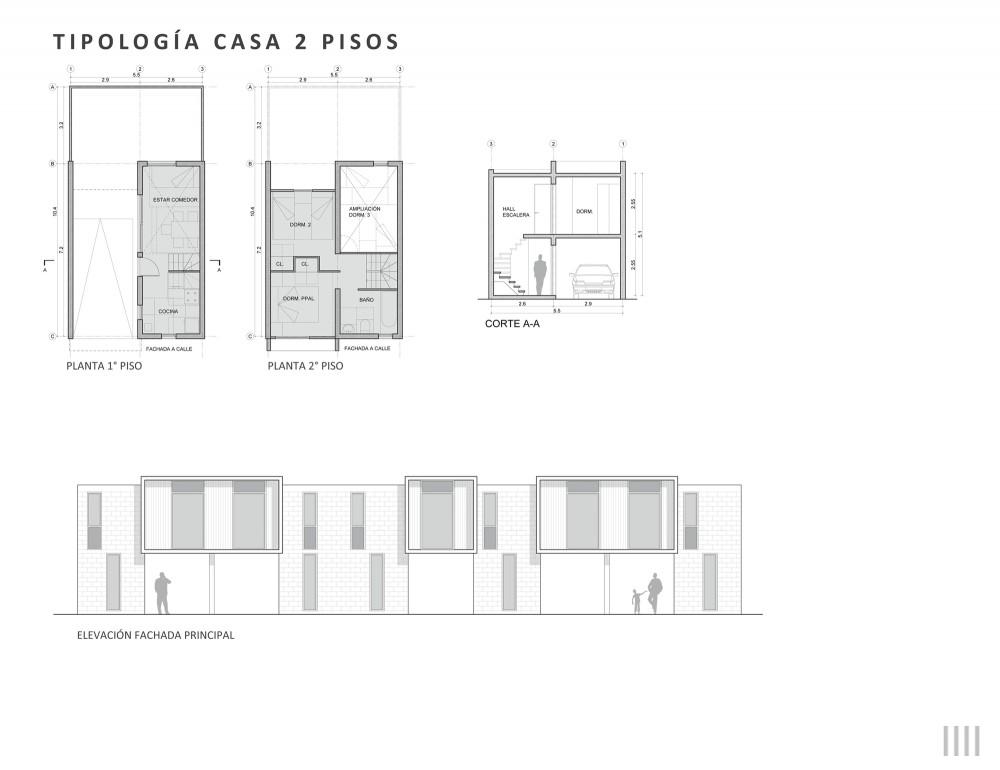 tipología 2 pisos