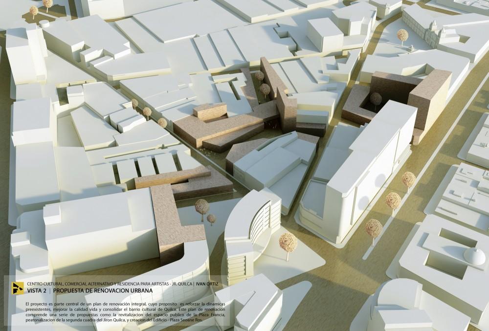 Vista Propuesta de Renovación Urbana. Image Cortesía de Ivan Ortiz