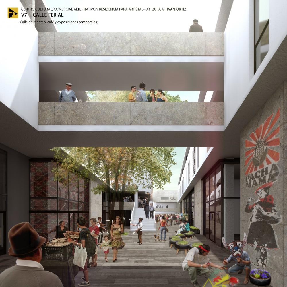 Vista Calle Ferial. Image Cortesía de Ivan Ortiz