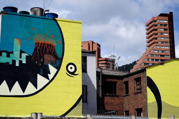 20.26 DC, proyecto ganador de una de las becas de intervención artística temporal sobre la calle 26 otorgada por IDARTES.. Image © Ricardo Zokos