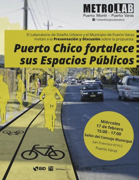 afiche puerto chico espacios publicos bid utv febrero 2016