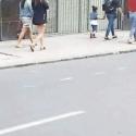 ciclovia improvisada calle merced