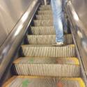 flujos peatonales escaleras metro santiago