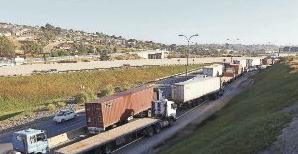 protesta camiones