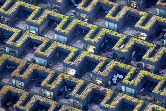 Distrito Ørestad en Copenhague, Dinamarca. Cortesía © Alex MacLean