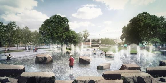 Plaza los Sillares. Image Cortesía de DUPLA Arquitectos