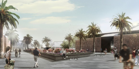 Plaza Pérgola de las Flores. Image Cortesía de DUPLA Arquitectos