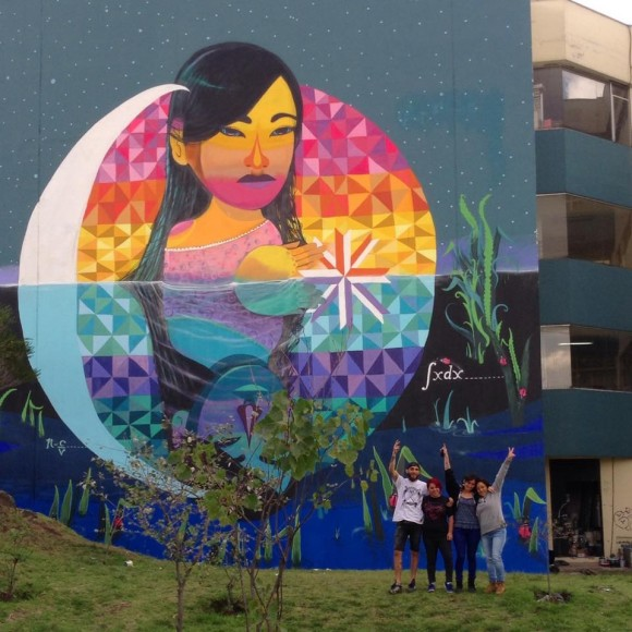 Mural de Wendy y Anis en la Universidad Central de Quito, Ecuador. Cortesía de Wendy.
