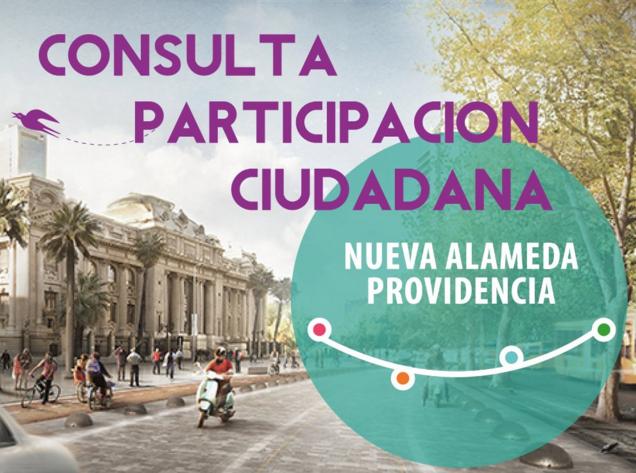 Afiche Consulta Participación Ciudadana Nueva Alameda Providencia