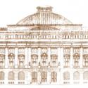 """Bosquejo del Banco de Chile, Ahumada 251. Fuente: Libro """"Banco de Chile, patrimonio de todos los chilenos""""."""