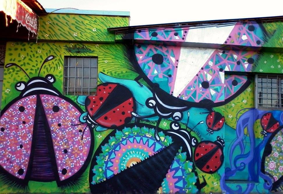 Mural en Avenida Departamental. © Cortesía de Wendy.