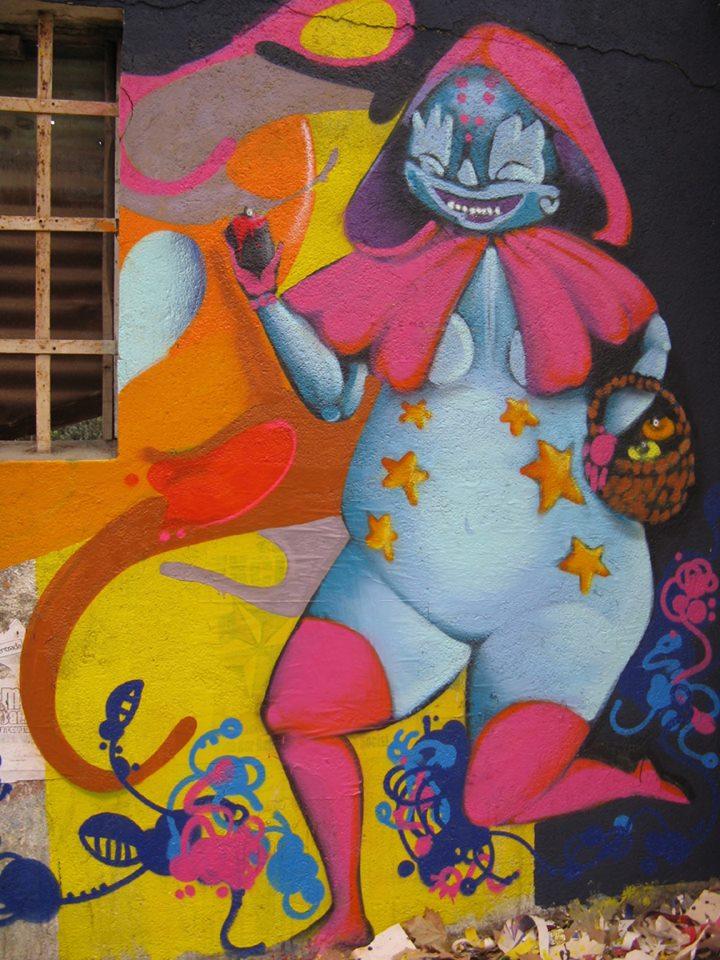 Mural de Gigi en Villa Alemana
