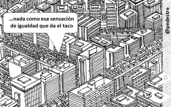 Dibujo con globo reciclado de Rodrigo Díaz