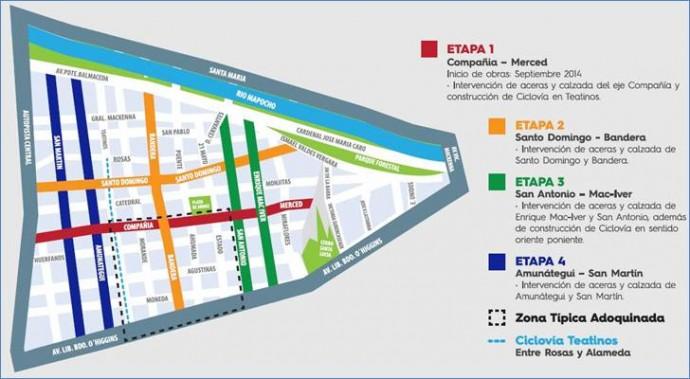 Mapa Plan Centro. Fuente: Gobierno de Chile.