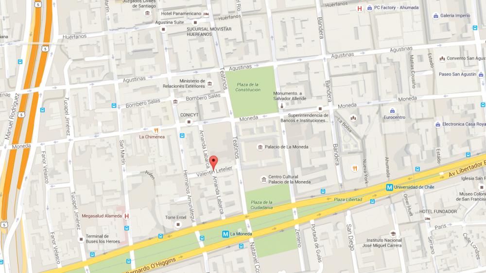 Mapa Con Un Puntero Ubicación: Google Maps Madrid Callejero