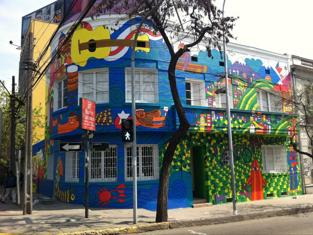 mural chile pinta en calle loreto con avenida santa mara payo