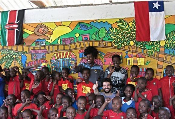 Mural Educáfrica, en Kibera Kenia.