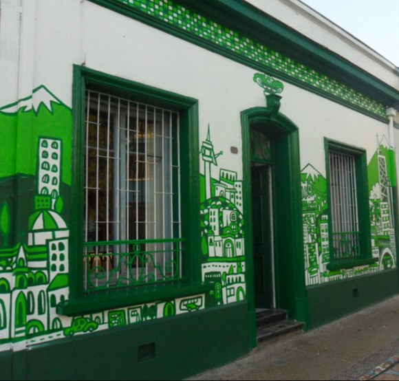 Mural Estudio Espiral, en Bellavista. Payo