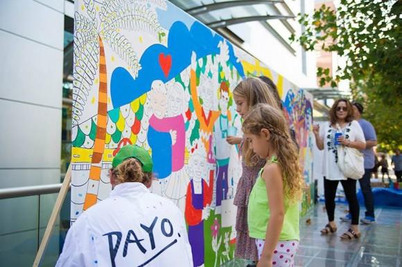 Mural participativo en Apoquindo. Payo