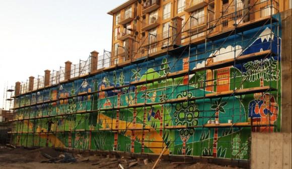 Mural Santa Beatriz, en Copiapó. Payo.