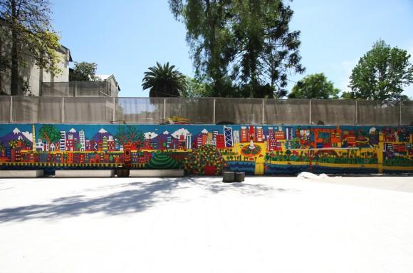 Mural Santiago, en el Centro Cultural Gabriela Mistral. Payo.