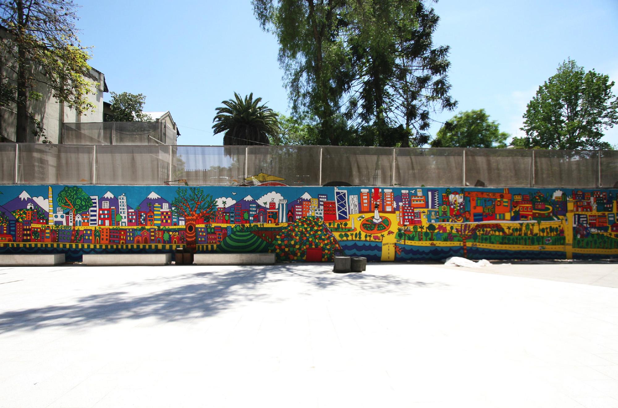 Mural santiago plaza socalo gam plataforma urbana for Carpenter papel mural santiago chile