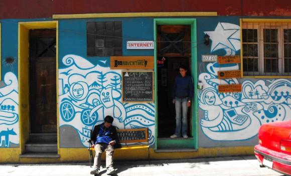 Mural Casa de Pablo Neruda, en Bellavista.