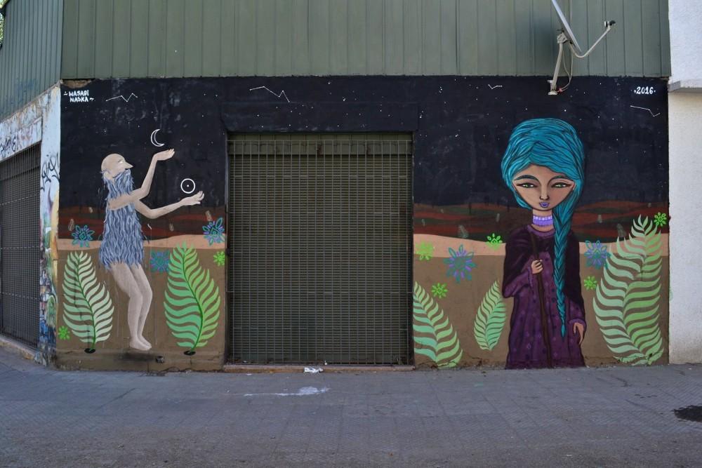 Mural de Naska en Barrio Matta Sur