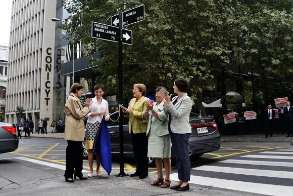 Nueva calle Amanda Labarca. © Municipalidad de Santiago (Foto por Mara Daruich).