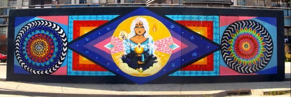 Mural de Anis, Juanita Pérez y Wend en la Villa Diego Portales