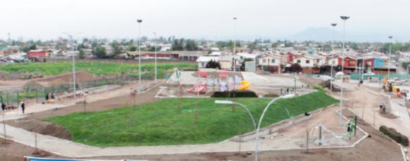 Parque El Roble. Fuente: Municipalidad de La Pintana.