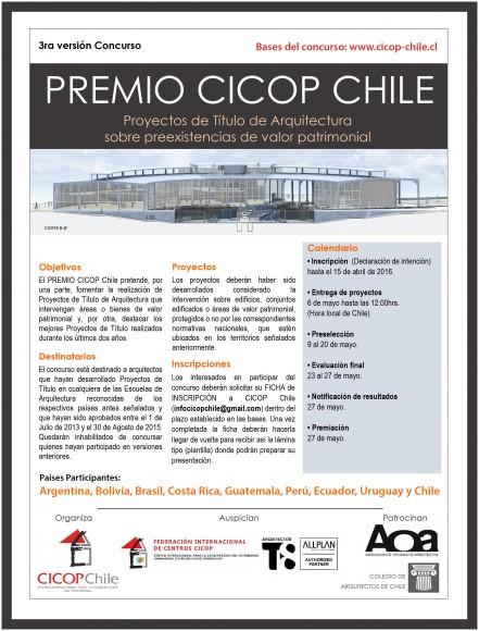 PREMIO CICOP Chile 2015.Afiche