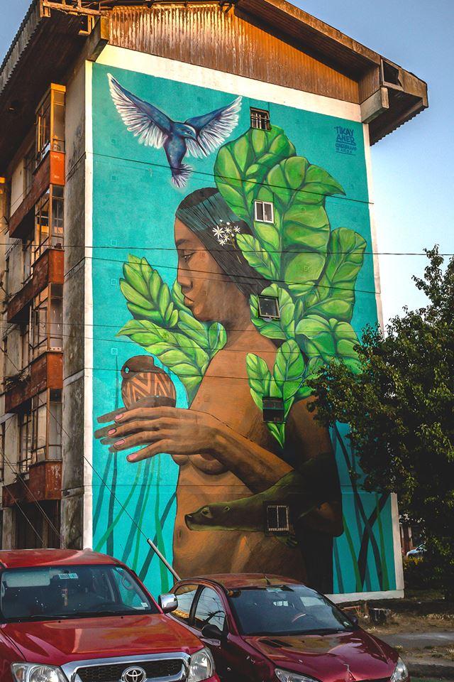 Mural de Tikey en Concepción