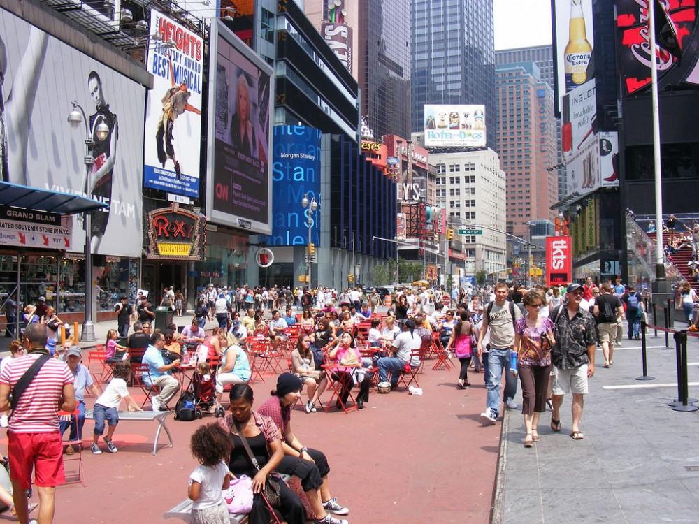 Times Square, Nueva York. © Sean_Marshall, vía Flickr.