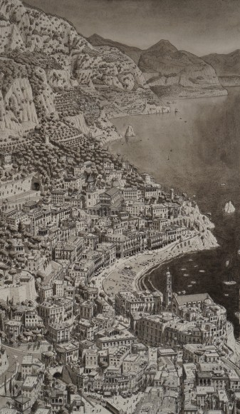 Ciudad ficticia en la costa amalfitana en Italia. Imagen © Stefan Bleekrode