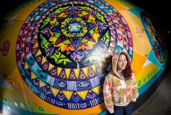 Mural en Villa Portales. © Cortesía de Wendy.