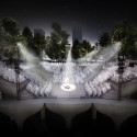 Amphitheater at night.. Image © Pier55, Inc. and Heatherwick Studio, Renders by Luxigon