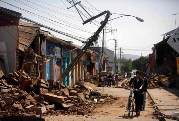 Talca post terremoto en Chile, 2010. Image © Roberto Candia