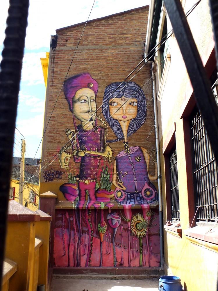 Mural en Calle Elías, Valparaíso. Cortesía de Cines.