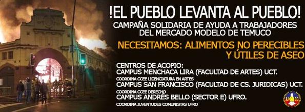 Campana el pueblo levanta al pueblo Mercado Municipal de Temuco