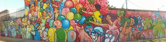 """Mural """"Celebraciones""""."""