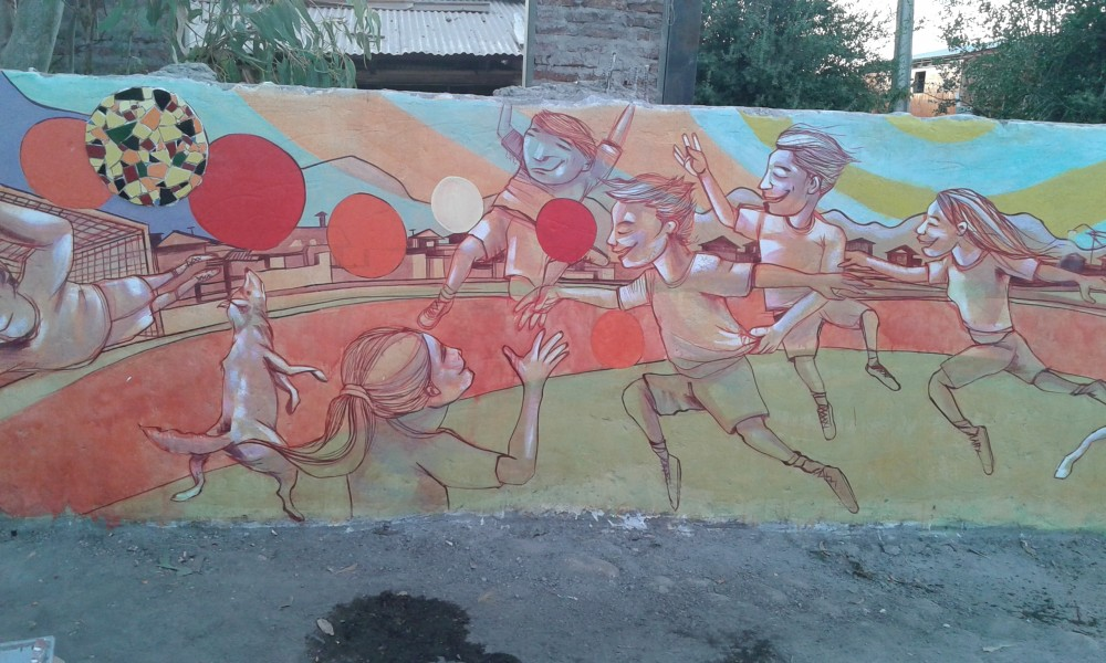"""Mural """"Deportes""""."""