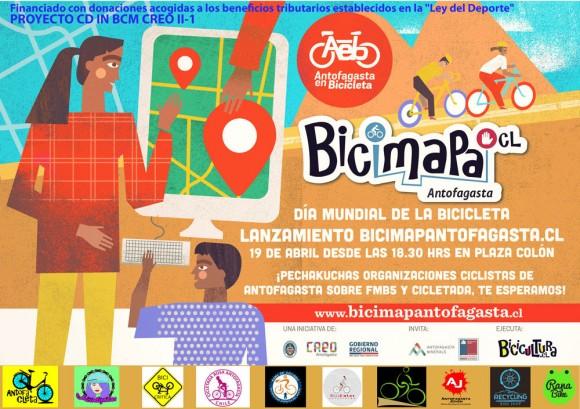 Dia Mundial de la Bicicleta Bicimapa Antofagasta
