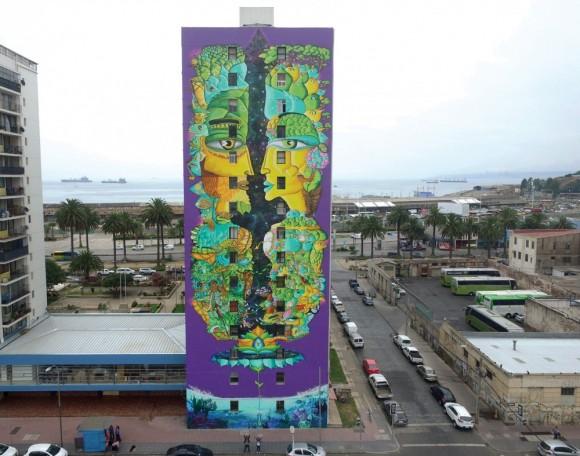 Mural Equinoccio de Primavera. © Cortesía de Un Kolor Distinto.
