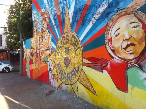 """Mural """"Orígenes del Parral""""."""