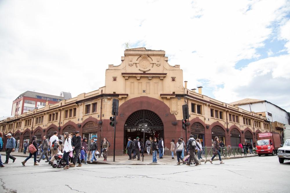 Mercado Municipal de Temuco, Región de la Araucanía. Fotografía por Plataforma Urbana tomada en 2013.