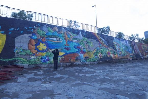 Mural de Un Kolor Distinto ©Plataforma Urbana