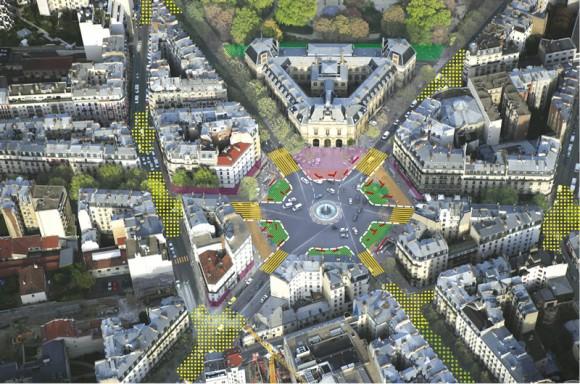 Plaza Gambetta. Fuente: Ayuntamiento de París.