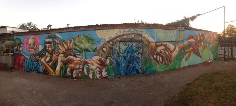 """Mural """"Presente y Futuro""""."""