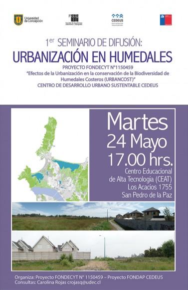 Afiche seminario humedales